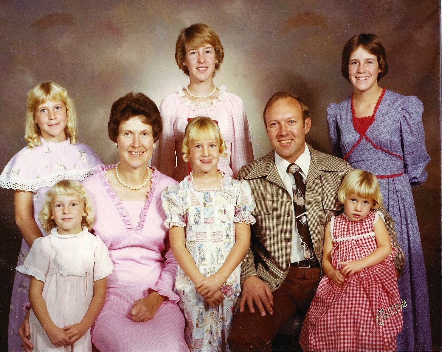 Me, my five sisters, and my parents.